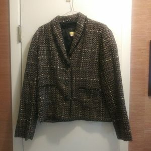 Requirements Fringed Brown woman's Blazer size 12
